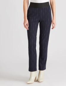 W.Lane Stripe Full Length Ponte Pant
