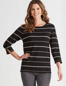 W.Lane Dot Textured Pullover
