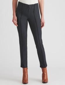 W.Lane Denim Look Short Full Length Ponte Pant