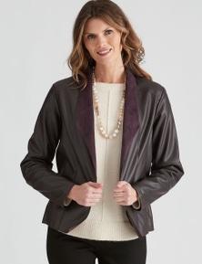 W.Lane PU Panelled Jacket