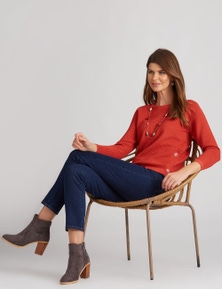 W.Lane Button Detail Pullover