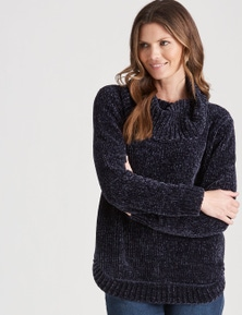 W.Lane Chunky Cowl Chenille Pullover