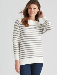 W.Lane Textured Stripe Pullover