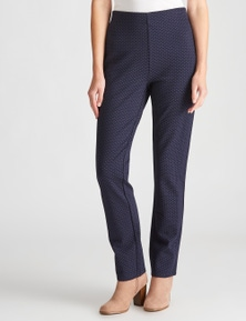 W.Lane Textured Full Length Ponte Pant
