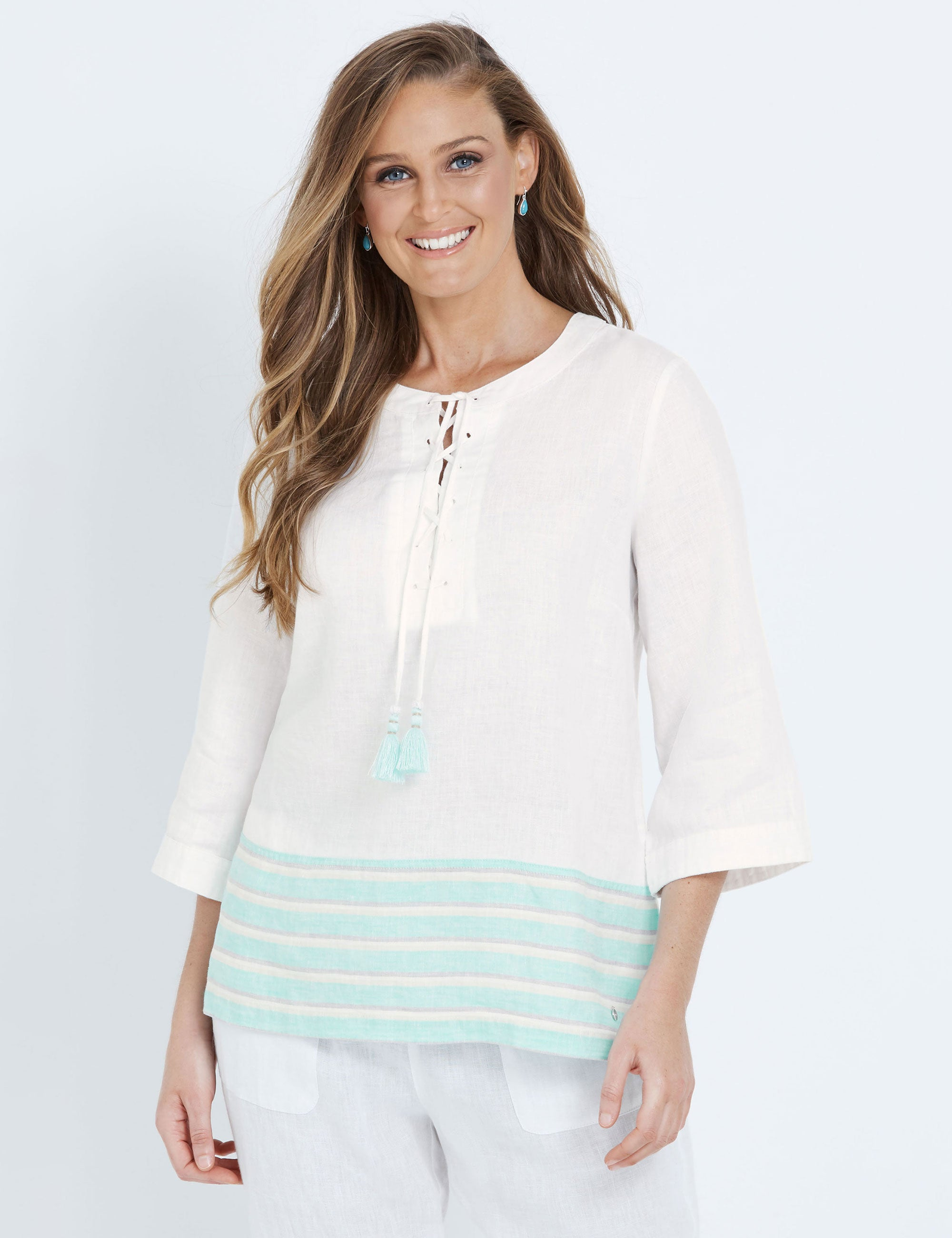 Maggie T Linen Tunic