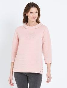 W.Lane Bubble Textured Knit Top