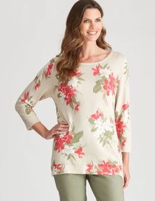W.Lane Floral Foil Printed Pullover