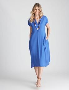 W.Lane Linen Hem Detail Dress