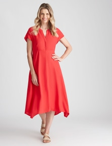 W.Lane Linen Hem Detail Dress