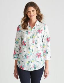 W.Lane Lemon Floral Shirt
