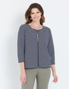 W.Lane Eyelet Stripe Jacket
