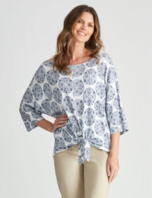 W.Lane Print Tie Top