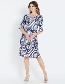 W.Lane Abstract Paisley Knit Dress