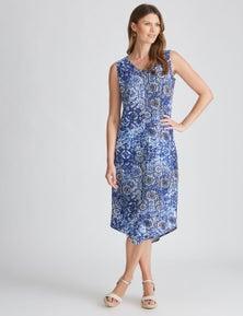 W.Lane Abstract Tile Maxi Dress