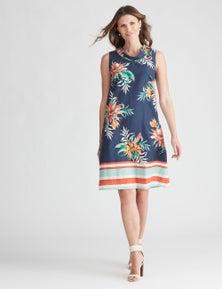 W.Lane Cowl Neck Print Dress