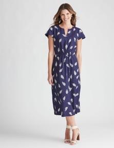 W.Lane Daisy Print Scollop Dress