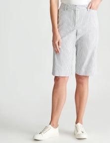 W.Lane Stripe Smart Short
