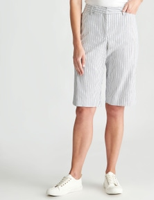 W.Lane Stripe Smart Short