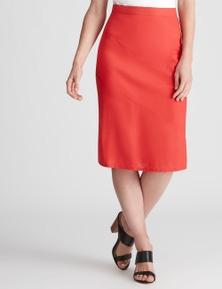 W.Lane Panelled Linen Skirt