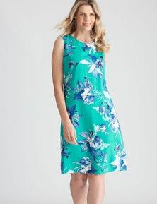 W.Lane Floral Placement Dress