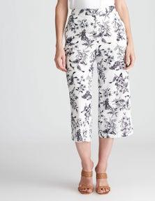 W.Lane Crop Culotte Linen Pant