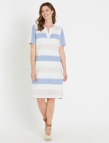 W.Lane Stripe Linen Dress