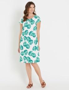W.Lane Linen Printed Dress