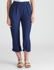W.Lane Panelled Button Ankle Pant