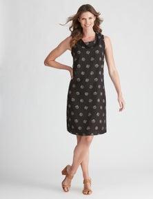 W.Lane Spot Cowl Linen Dress