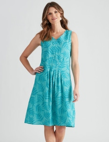 W.Lane Fern Embroidered Mesh Dress