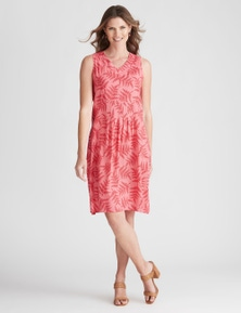 W.Lane Fern Embroidered Mesh Dress