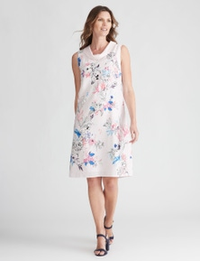W.Lane Abstract Floral Placement Dress