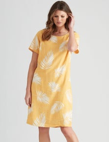 W.Lane Floral Chain Print Linen Dress