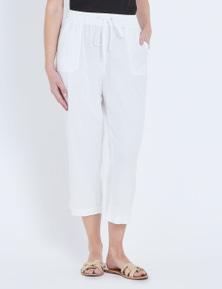 W.Lane Linen Crop Pant
