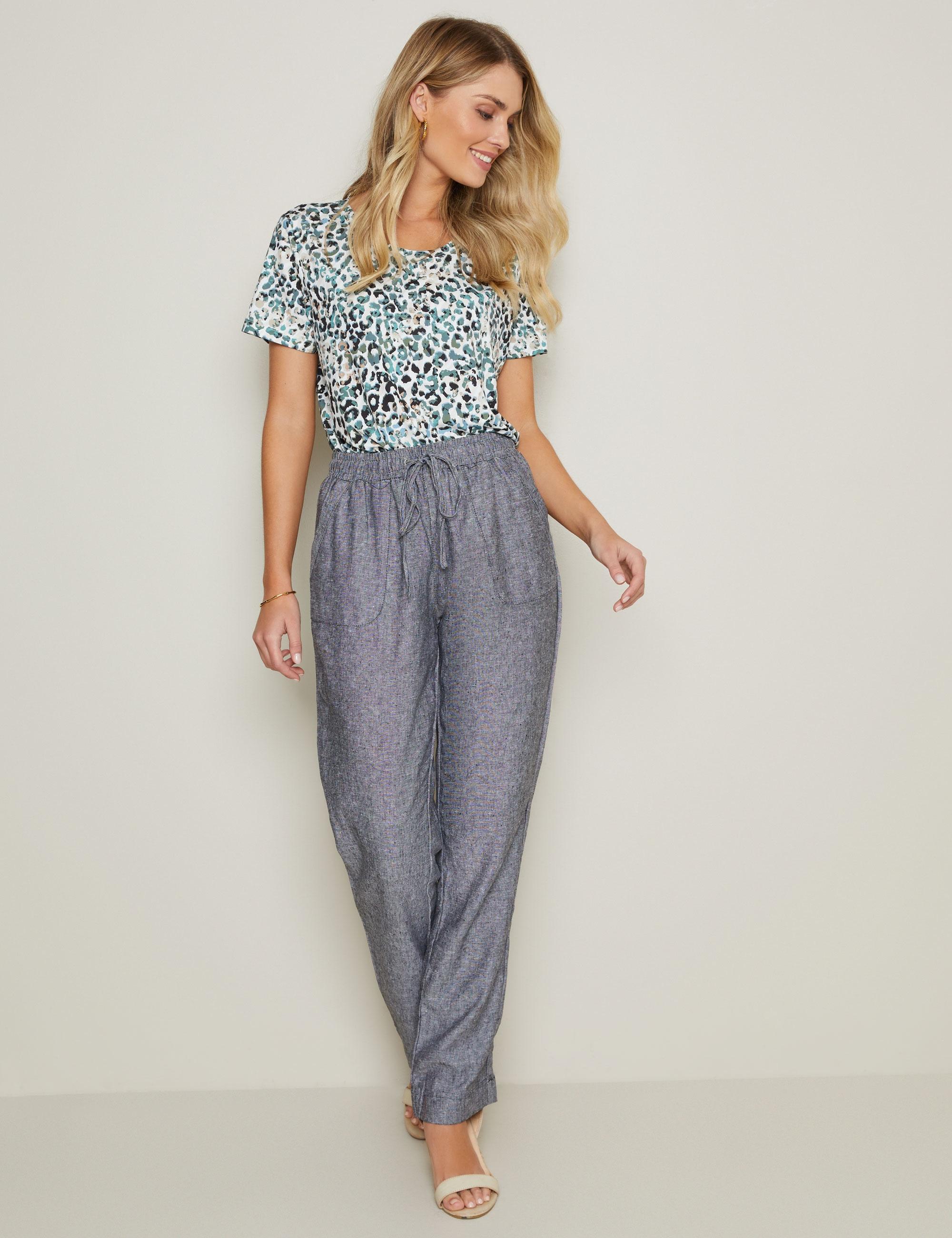 W.lane Linen Full Length Pant - White - 14