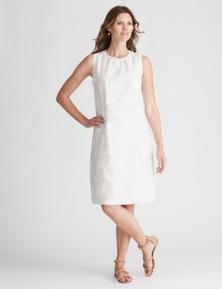 W.Lane Spot Print Linen Dress