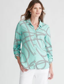 W.Lane Rope Print Shirt