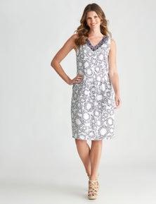 W.Lane Panelled Spot Dress