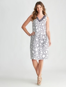 W.Lane Panelled Spot Dress