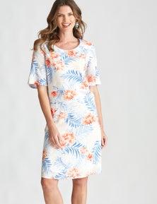 W.Lane Border Print Dress