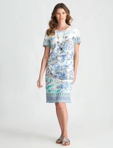 W.Lane Border Print Dress