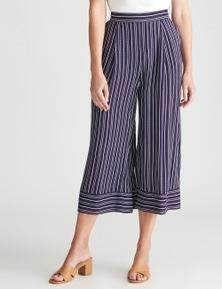 W.Lane Stripe Culotte Crop Pant