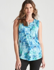 W.Lane Sleeveless Print Top