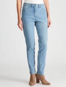 W.Lane Panelled Full Length Denim Jean