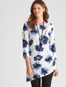 W.Lane Asymmetrical Large Floral Top