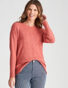 W.Lane Cable Short Sleeve Pullover