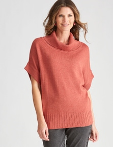 W.Lane Cowl Neck Short Sleeve Pullover