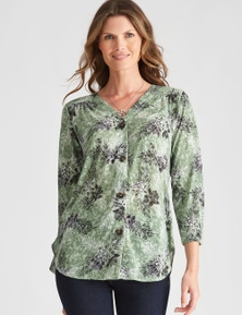 W.Lane Burnout Floral Blouse