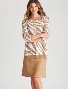 W.Lane Zebra Jacquard Pullover