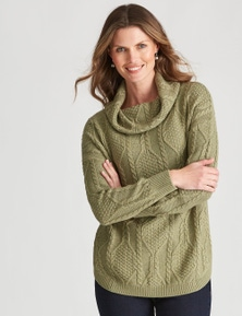 W.Lane Cable Cowl Neck Pullover